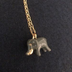 J. Crew, long elephant necklace